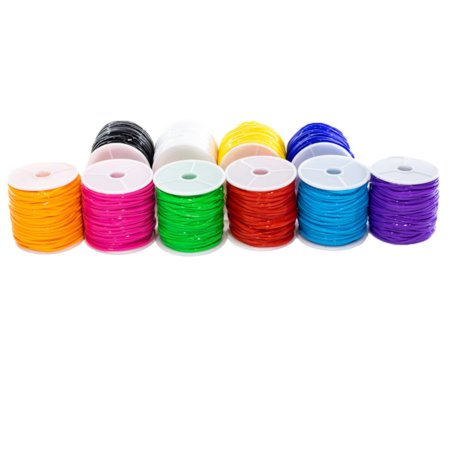 Craft County 10 Pack of Plastic Lacing Cord - Plastic Lacing