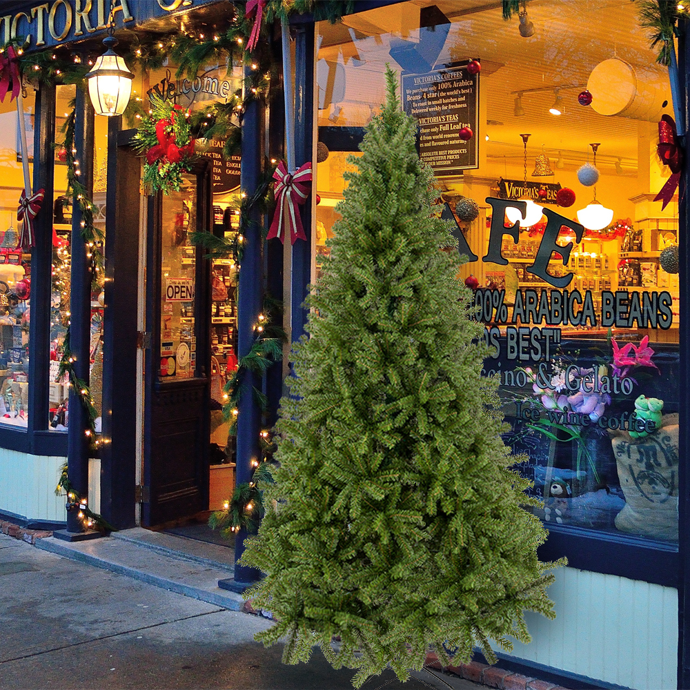 7.5FT 1450 Tips Artificial PVC Christmas Tree, Unlit PVC ...