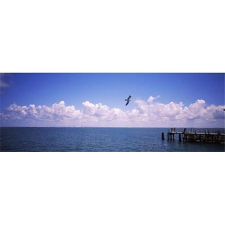 Panoramic Images PPI115528L Pier over the sea Fort De Soto Park Tampa Bay Gulf of Mexico St
