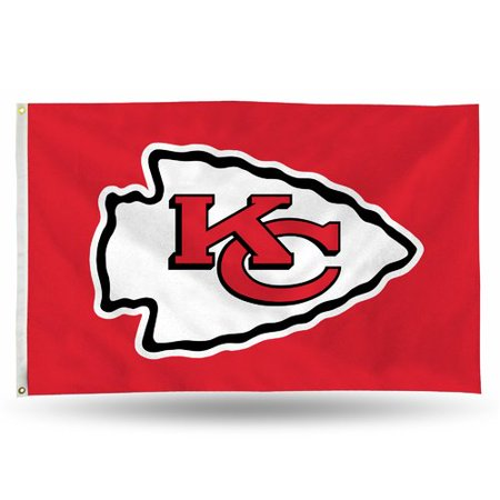 Rico Industries NFL 3' x 5' Banner Flag, Kansas City Chiefs