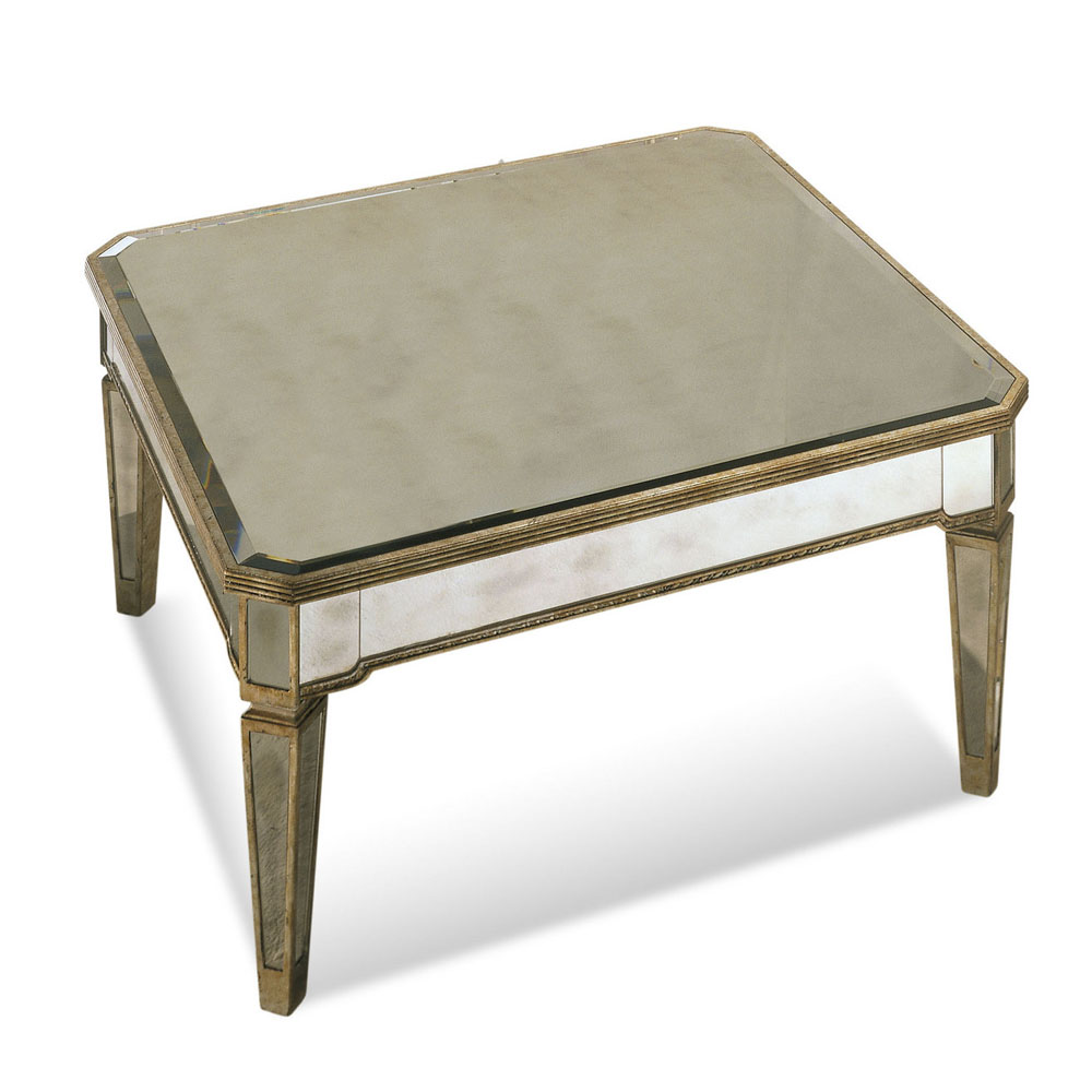 Bassett 8311-130 Borghese Mirrored Square Cocktail Table by Bassett Mirror