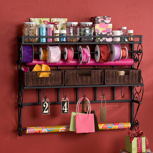Wildon Home  Lynbar Wall Mount Craft Large Storage Rack with Baskets