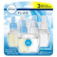 Febreze Plug Air Freshener Scented Oil Refill, Linen & Sky, 3 Ct
