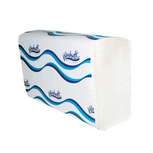 WINDSOFT Embossed Multifold 1-Ply Paper Towels - 250 Towels per Pack