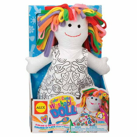 ALEX Toys Craft Color and Cuddle Doll Soft Toy