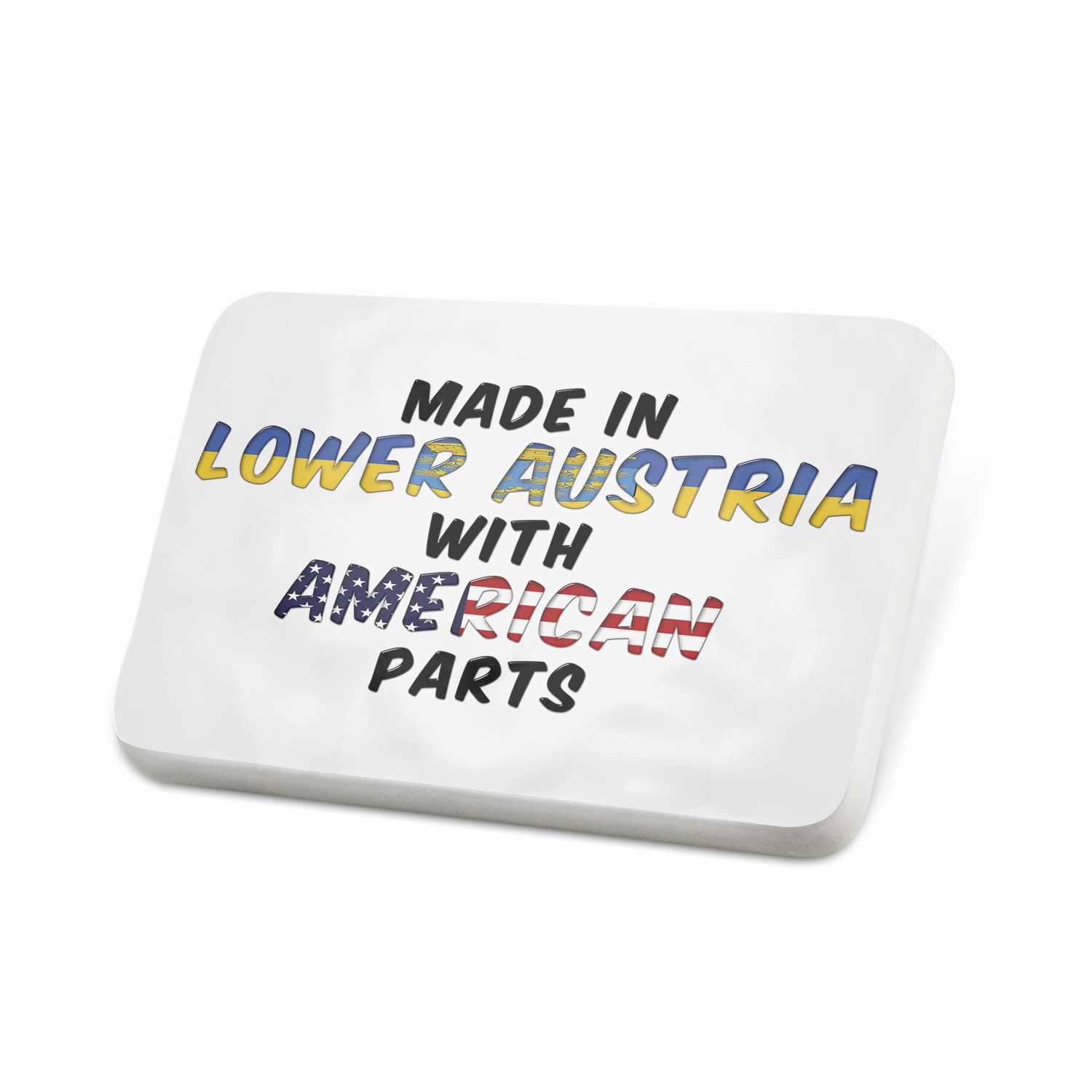 Porcelein Pin American Parts but Made in Lower Austria Lapel Badge – NEONBLOND