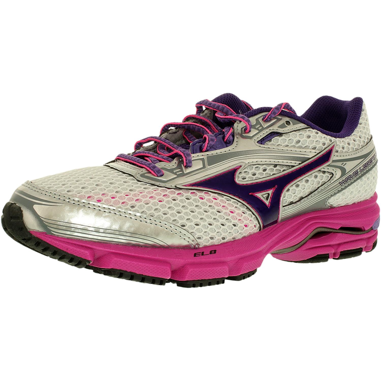 huge discount 496d6 f7b02 Mizuno Women s Wave Legend 3 White Purple Ankle-High Running Shoe - 9.5M