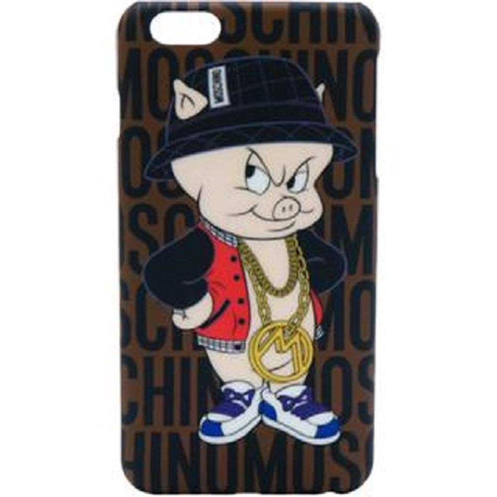 a basso prezzo c922e a8015 MOSCHINO Porky Pig Cover Brown iPhone 6/6s Plus Brown