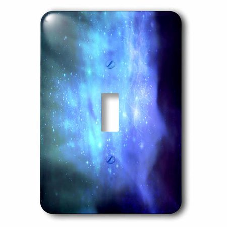 3dRose Blue space with stars - outer space texture - magical galaxies nebulas - science fiction sci-fi, Single Toggle Switch