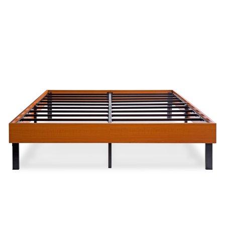 Granrest 14 Inch Non Slip Wood Platform Bed Vintage
