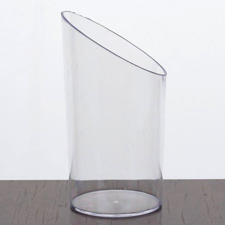 Efavormart 100 Pcs - Clear Diminutive 2.5oz Flasket Disposable Plastic Dessert Cup