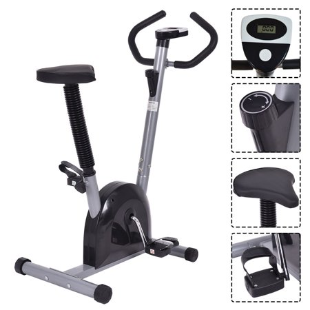 Outstanding Ghp Black 220Lbs Capacity 5 Level 37 5 41 5 Adjustable Seat Height Exercise Bike Creativecarmelina Interior Chair Design Creativecarmelinacom