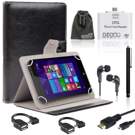 eeekit 8in1 kit for nextbook 8 windows 8 1 folio case. Black Bedroom Furniture Sets. Home Design Ideas