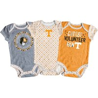 Girls Newborn & Infant Russell Athletic Tennessee Orange/White/Gray Tennessee Volunteers 3-Pack Team Bodysuit Set