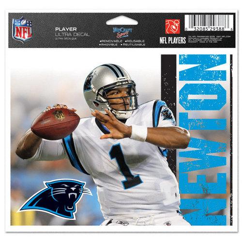 NFL - Cam Newton - Carolina Panthers 5x6 Cling Decal