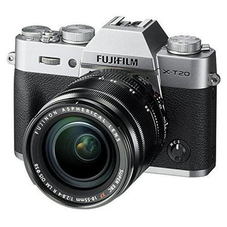 Fujifilm X-T20 Mirrorless Digital Camera w/XF18-55mmF2.8-4.0 R LM OIS Lens - Silver (International Model No (Xf18 55mmf2 8 4 R Lm Ois)