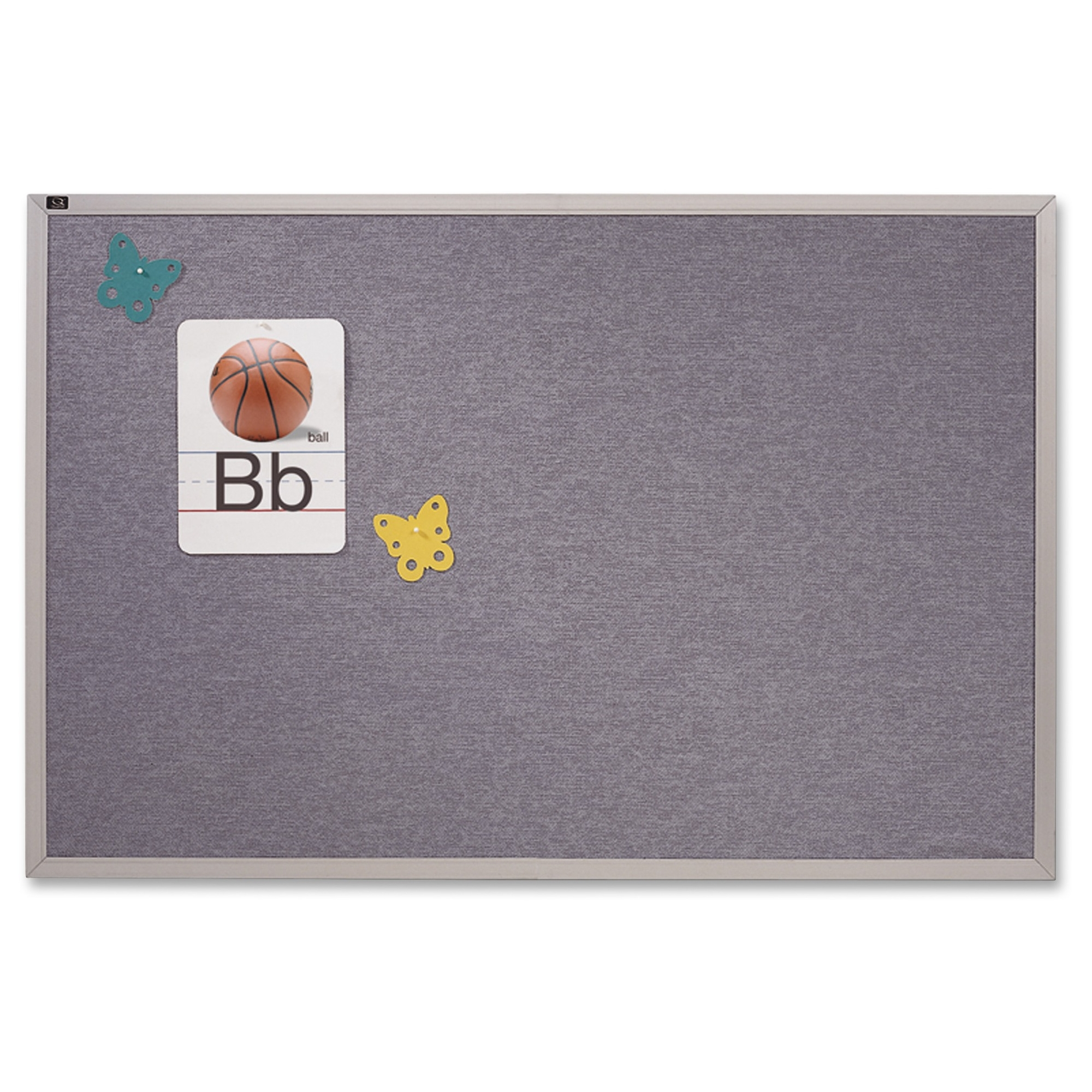 "Quartet Vinyl Tack Bulletin Board - 48"" Height X 72"" Width - Blue Vinyl Surface - Silver Satin Aluminum Frame (vta406b)"
