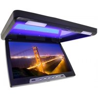 """Tview T2207IR 22"""" TFT LCD black widescreen flip down monitor remote 2 video inputs screen is 20"""""""