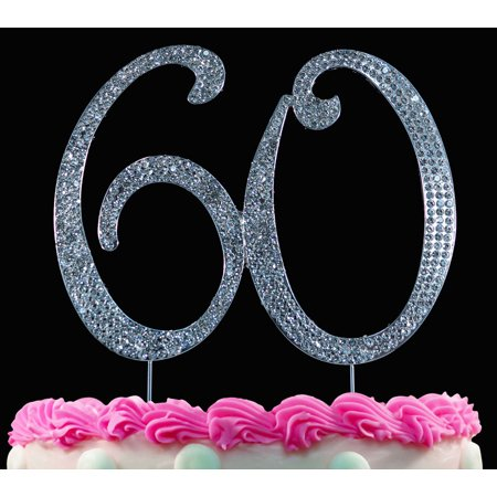 Bling Number 60 Birthday Cake Toppers Anniversary