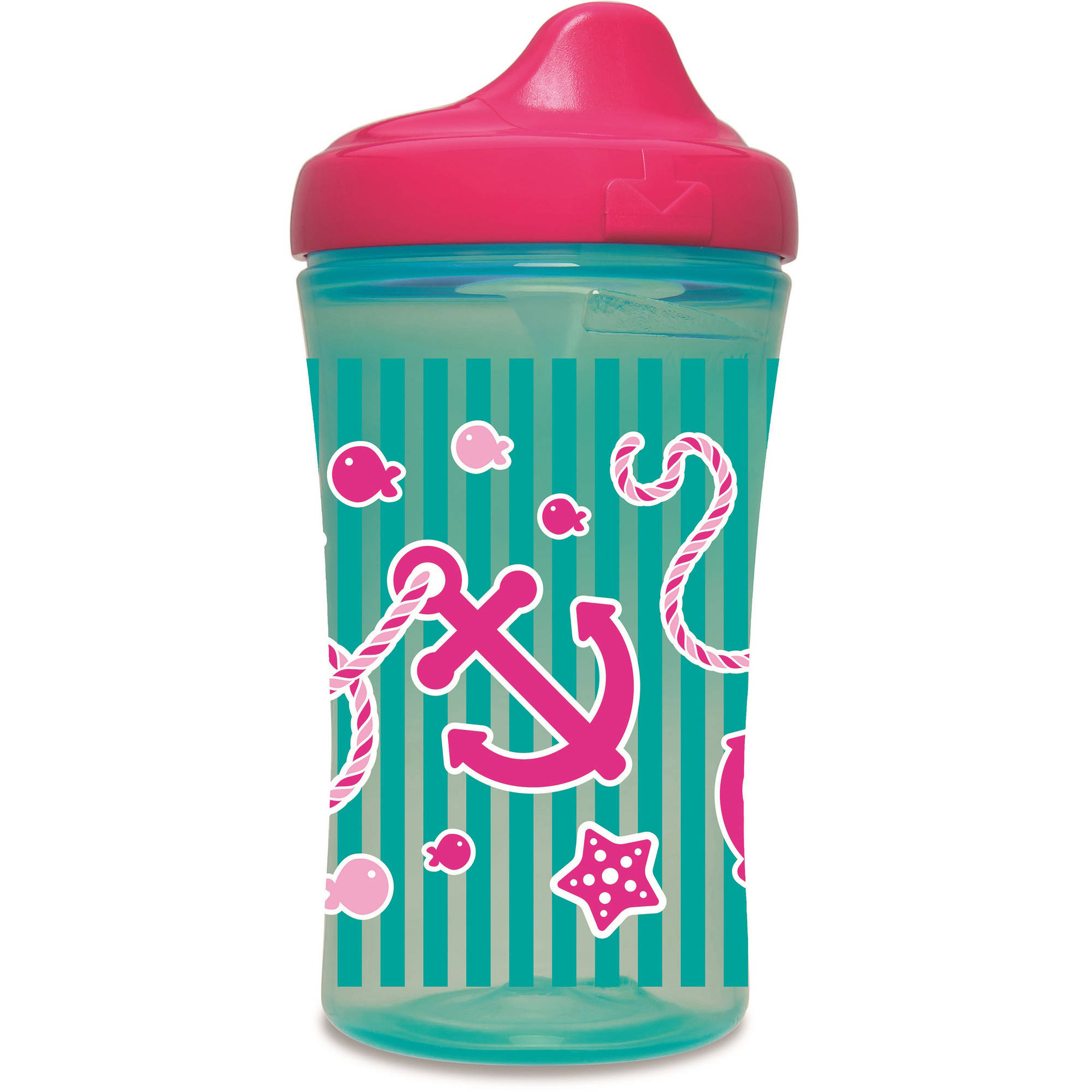 NUK Nautical Advanced Hard Spout Sippy Cup, Girl Colors