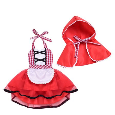 Baby Girl Sequins Tutu Backless Romper Plaid Tutu Dress Christmas Outfits (Plaid Red Dress, 100/18-24 Months) ()