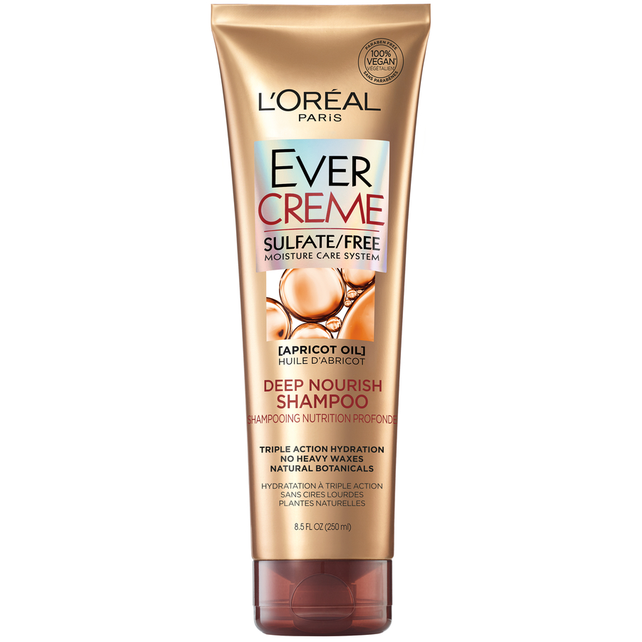 L'Oreal Paris EverCreme Deep Nourish Shampoo, Triple Action Hyrdration, 8.5 Fl Oz