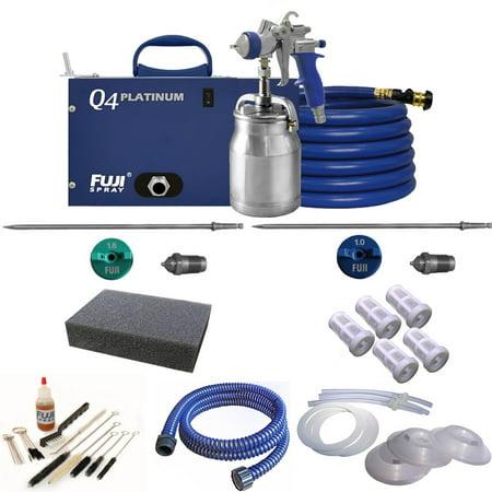 Fuji Spray Q4 Platinum T70 Quiet HVLP Spray System and Pro Accessory (Fuji Hvlp Q4 Pro With Gravity Gun)