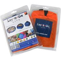 """Lay-n-Go LITE (18"""") : Orange, Activity Play Mat, Toy Storage"""