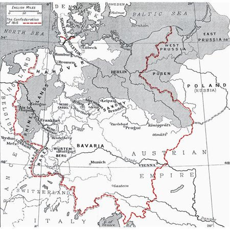 Map Of Germany To Print.Posterazzi Dpi1862964 Map Of Germany In 1815 From The Book Europe In The Nineteenth Century An Outline History Published 1916 Poster Print 14 X 14