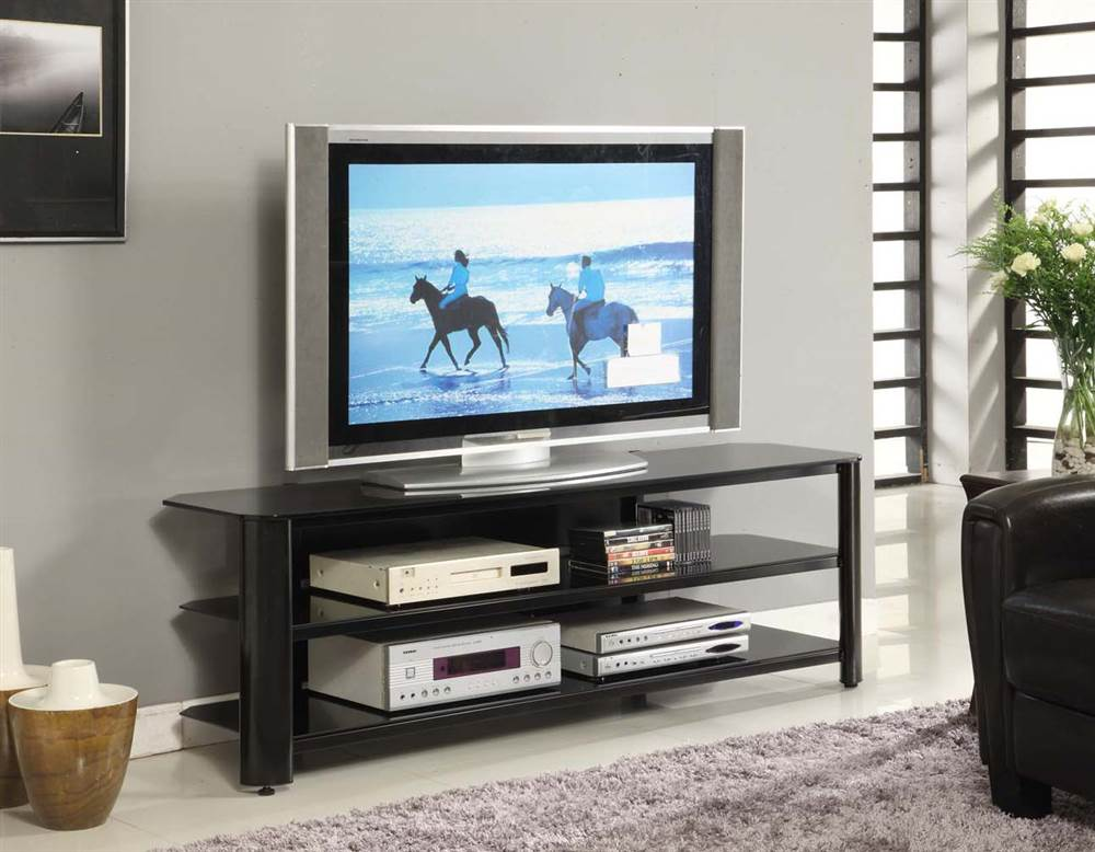 Innovex Oxford Black Tv Stand For Tvs Up To 65 Walmart Com