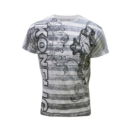 Hardcore Mma T-shirt (Konflic Men's All Over Print MMA Style Short Sleeve T-Shirts - Multiple Styles)