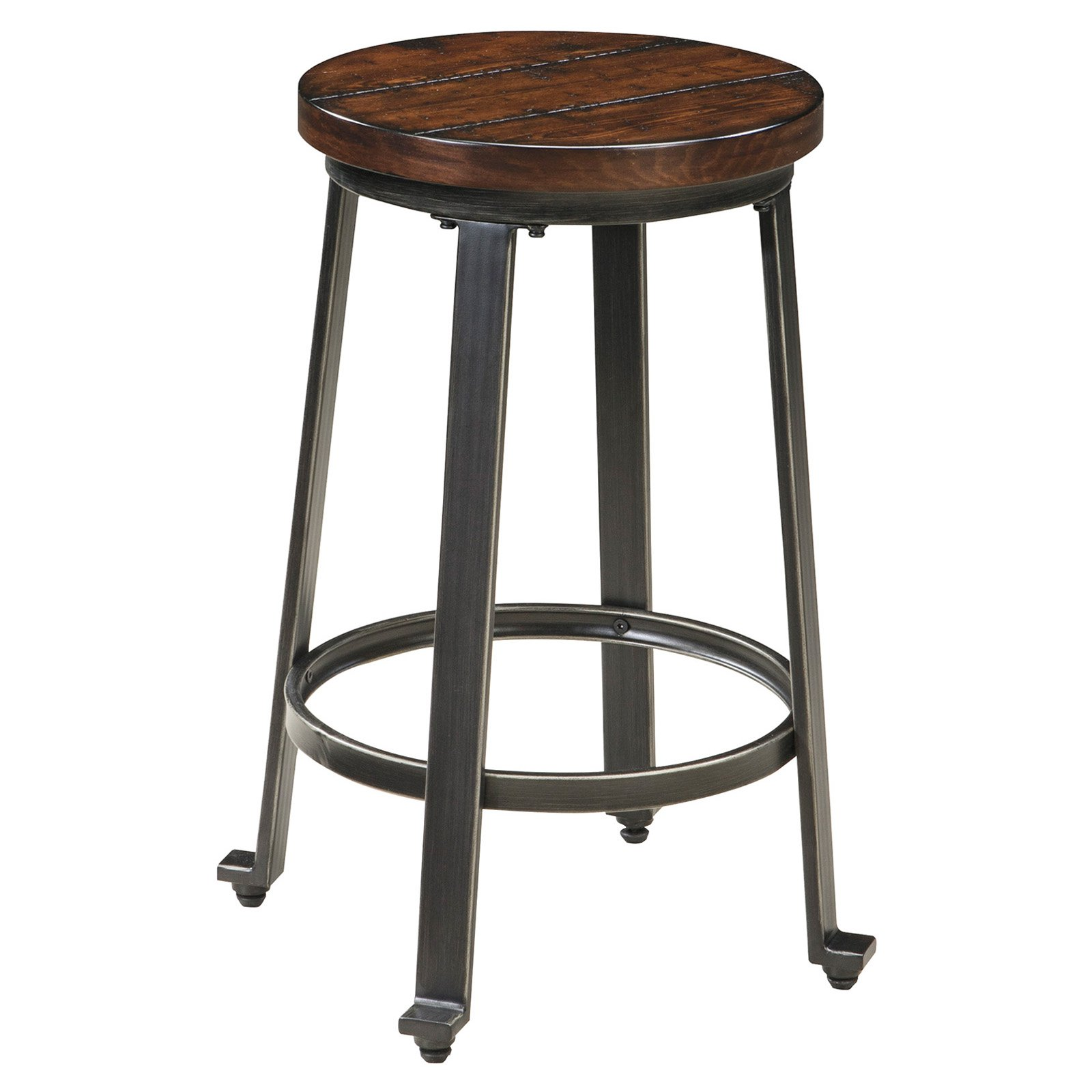 Signature Design By Ashley Challiman Stool Rustic Brown