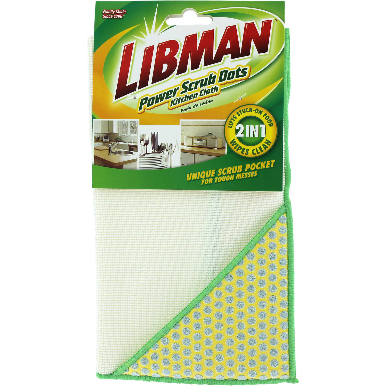 Libman Power Scrub Dots Kitchen Cloth