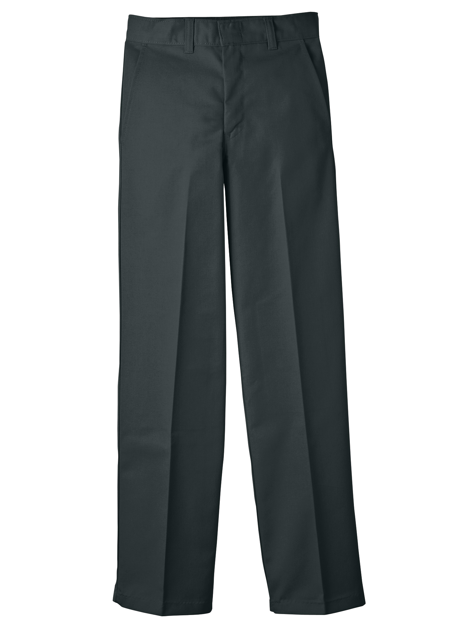 Boys' Uniform Classic Fit Straight Leg Flat Front Pants (Big Boys)