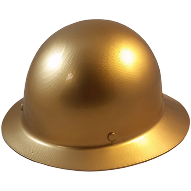 MSA Skullgard Full Brim Hard Hat with FasTrac III Ratchet Suspension - Brown