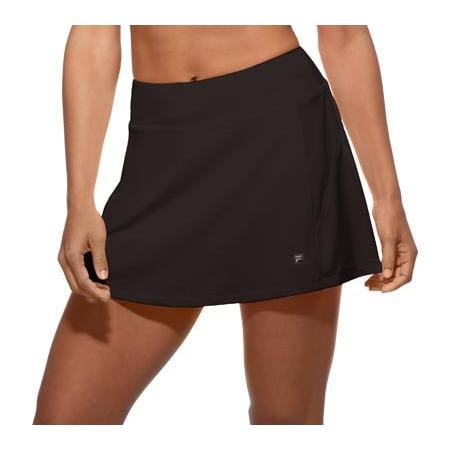 714dac4e0840a Fila Women's Core A-Line Tennis Skorts, Black, XL - Walmart.com