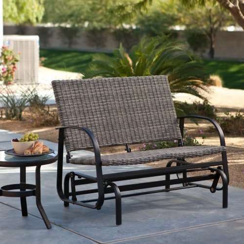 Coral Coast Beachwood Wicker Double Glider   Walmart.com