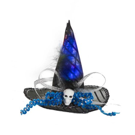 Blue & Black Light-Up Mini Witch Hat Costume by Ganz (Witch Hat Costume)