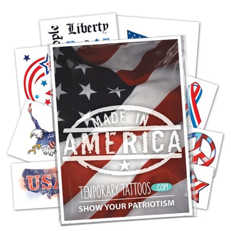 Patriotic Party Pack of Temporary Tattoos for $<!---->