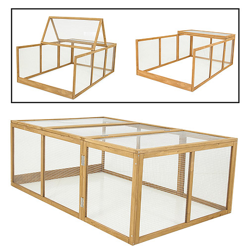 "Aspen Pet 43105 62.25"" x 41"" x 23"" Chicken Fort Run"