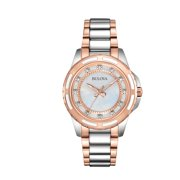 Bulova Women's Diamond Silver Stainless-Steel Quartz Dress Watch 98P134