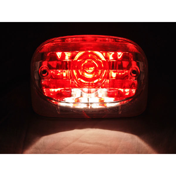 NEW Custom Taillight Brake Rear Tail Light Lamp For Harley Davidson Dyna Glide Fat Bob Super Wide - image 6 of 7