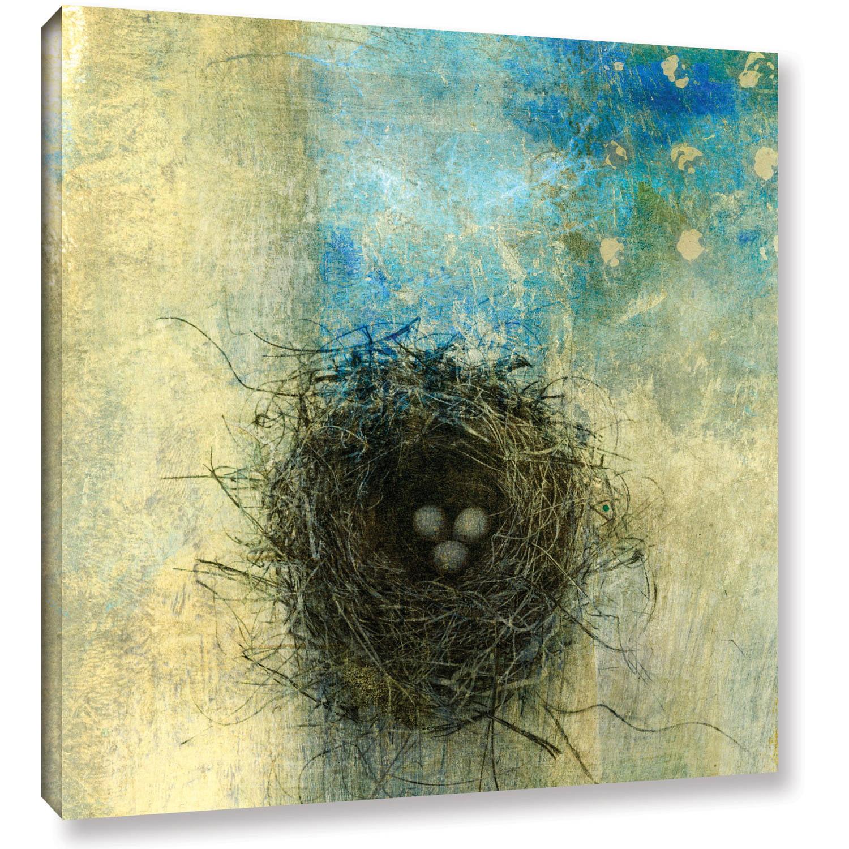 "ArtWall Elena Ray ""Bird Nest"" Art Appeals Removable Wall Art"