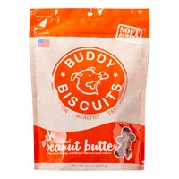 Cloud Star Grain Free Buddy Biscuits, Soft & Chewy Peanut Butter Dog Treats, 20 oz. bag