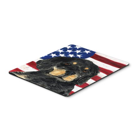 USA American Flag with Gordon Setter Mouse Pad, Hot Pad or Trivet