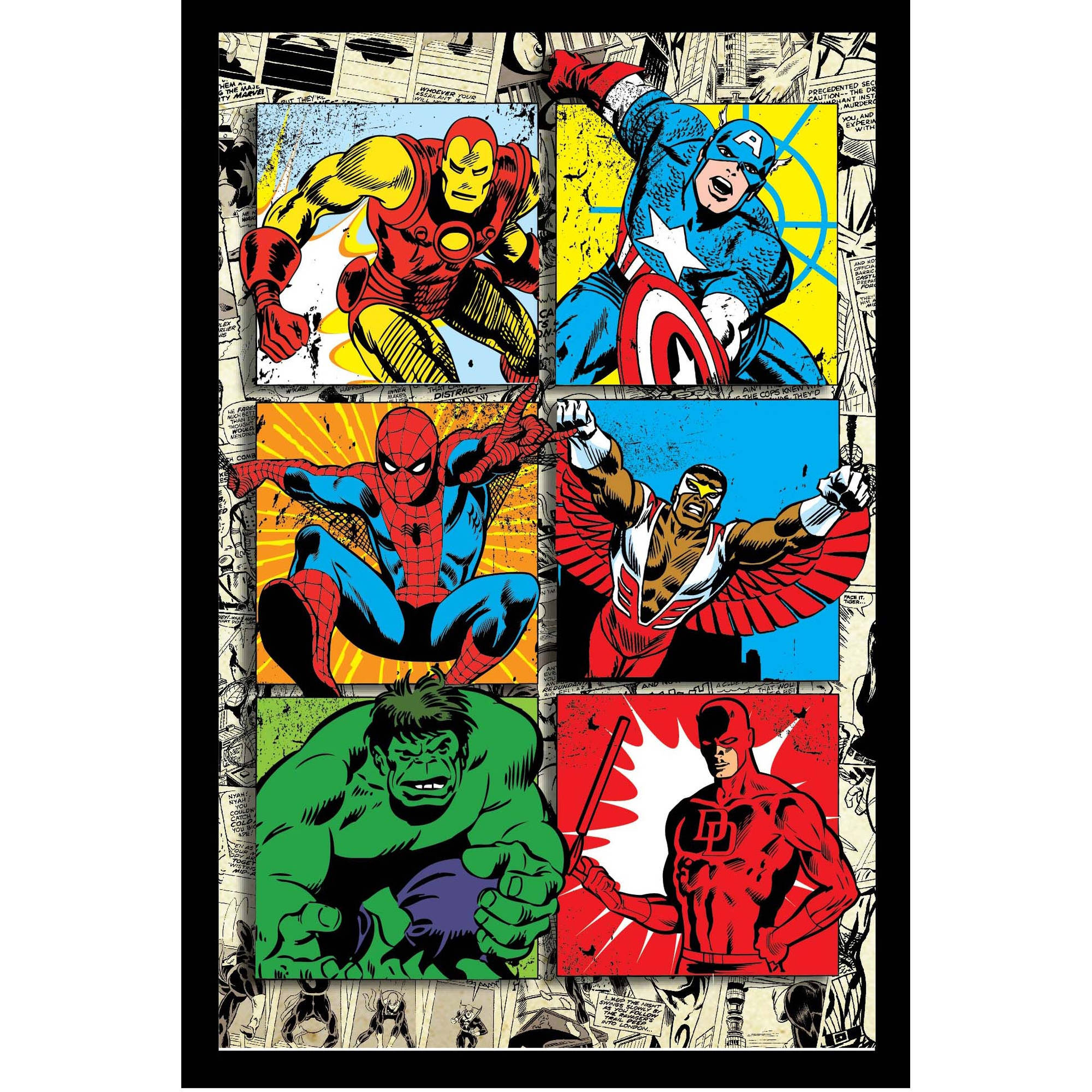 Retro Wall Art marvel avengers retro framed 3d wall art - walmart