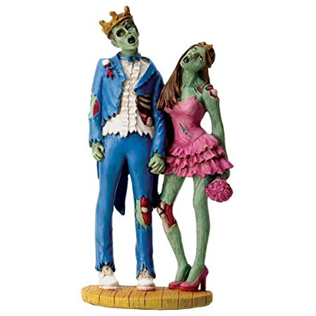 Colorful Scary Zombie Prom King and Queen Figurine Statue - Zombie Prom Queen