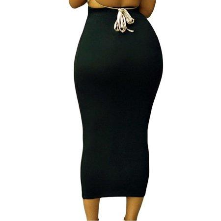 Women Sexy Overskirt Bandge Skirt High Waist Pencil Dress Bodycon Maxi Skirt Long (Tie Dye Long Dress Skirt)