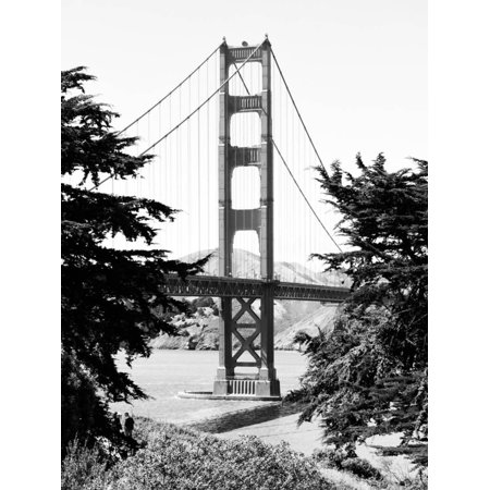 Landscape, Golden Bridge, Black and White Photography, San Francisco, California, United States Gate Black and White Photography Print Wall Art By Philippe Hugonnard Black And White Photography Landscapes
