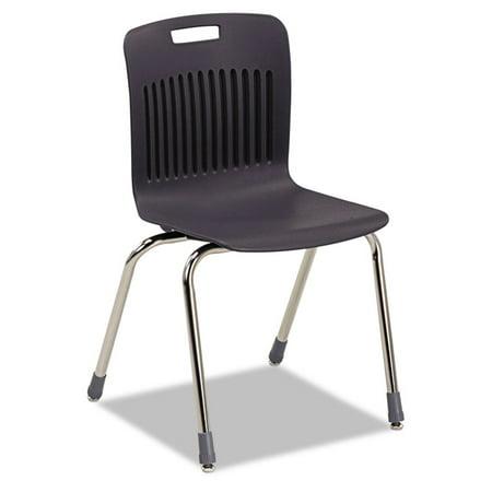 Virco Analogy Extra Large Ergonomic Stack Chair Black Chrome Carton